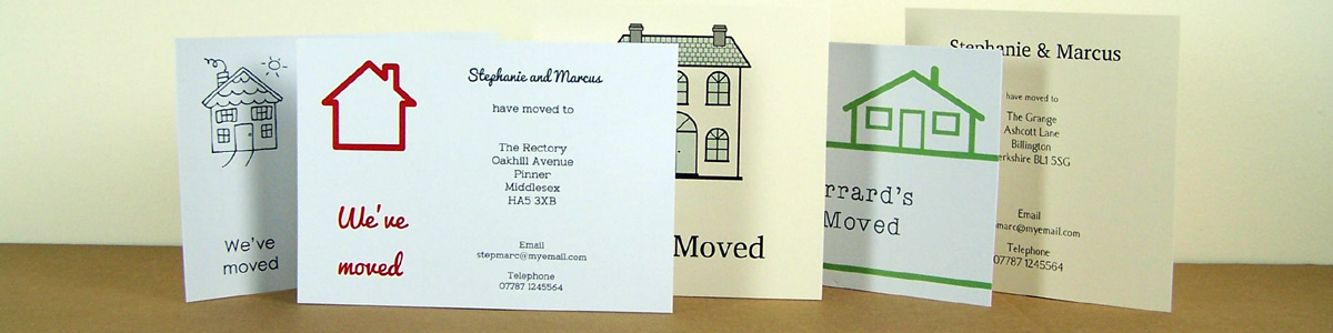 Personalised Stationery - Change of Address Cards