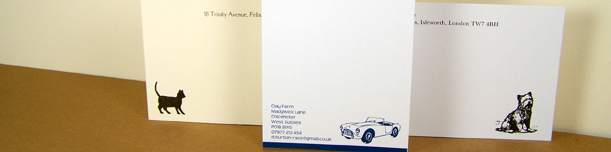 Personalised Stationery - Motif Cards