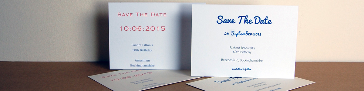 Personalised Stationery - Save The Date