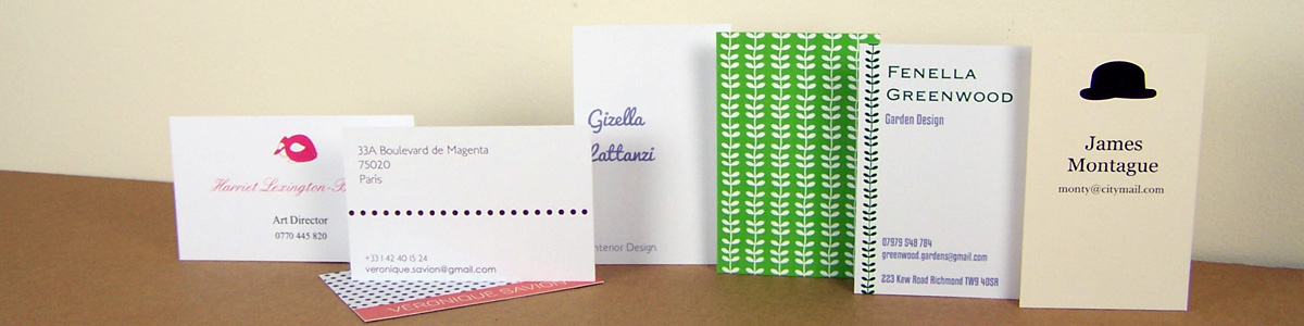 Personalised Stationery - Visiting Cards