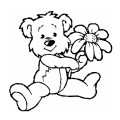 Teddy Bears Teddy with flowers
