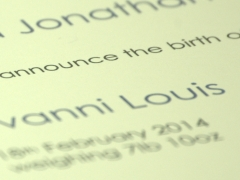 Design and proof your personalised Announcements Birth of a new baby
