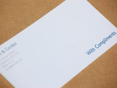 Design and proof your personalised Social Stationery Compliment Cards