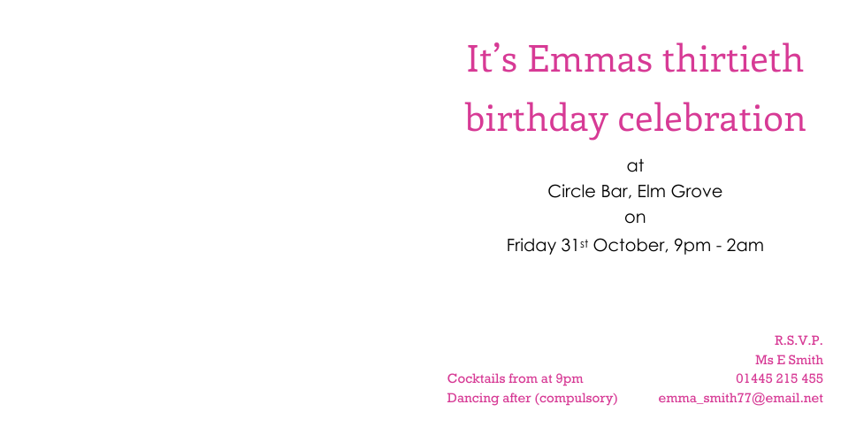 Calvert 120mm Square Birthday Party Invites | Design, proof and buy online | Personalised Stationery
