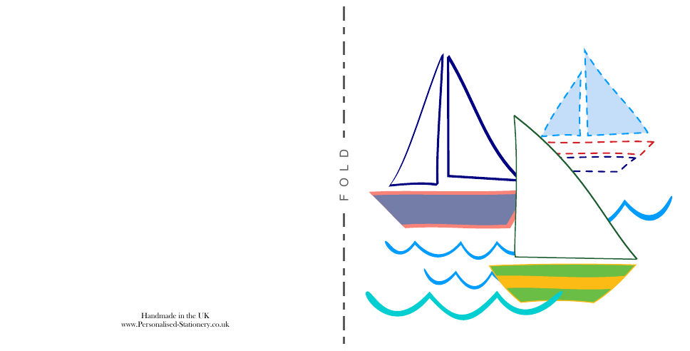 Bateaux 120mm Square Birthday Party Invites | Design, proof and buy online | Personalised Stationery