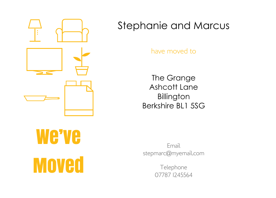Personalised Stationery : Icon'ish Change of Address Cards : Edgware
