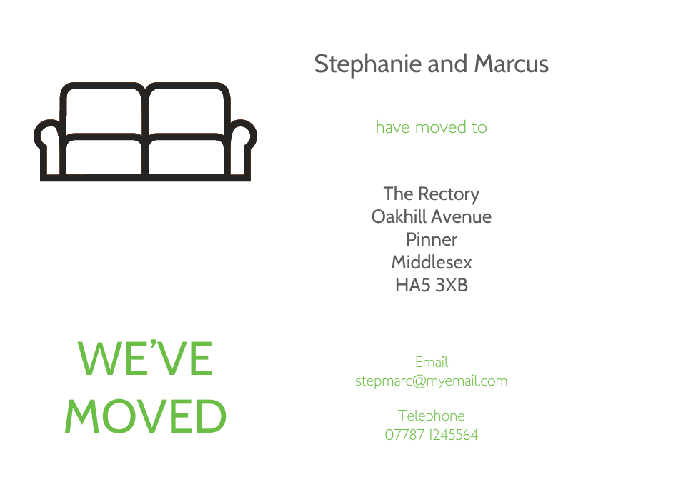 Euston Icon'ish Change of Address Cards | Design, proof and buy online | Personalised Stationery
