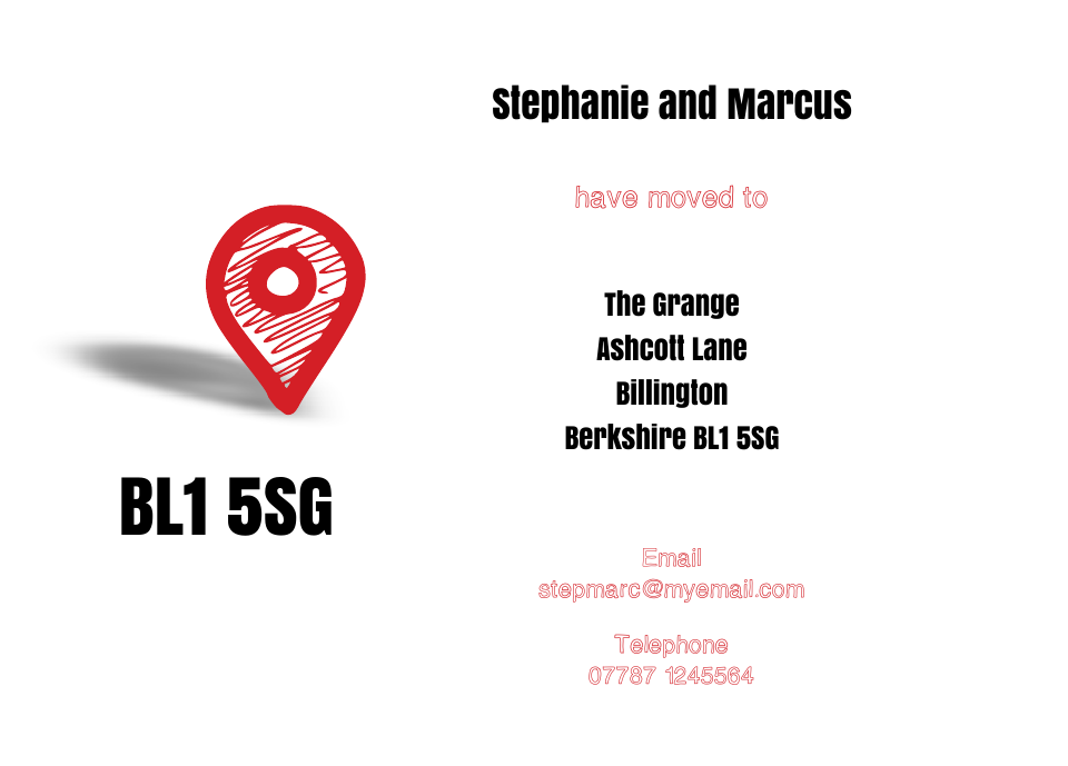 Personalised Stationery : Icon'ish Change of Address Cards : St Giles