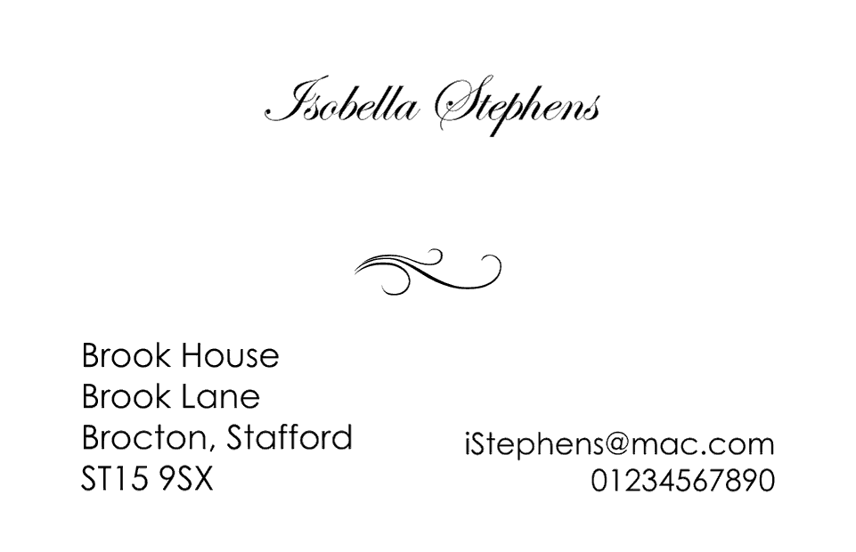 Personalised Stationery : Kensington : Stephens