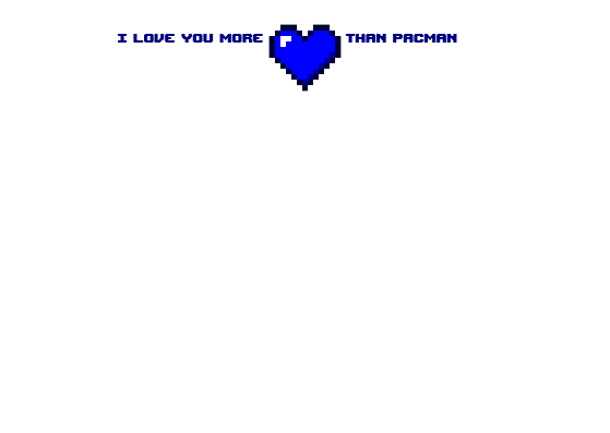 Personalised Stationery : Motif Postcards : 8 Bit Love