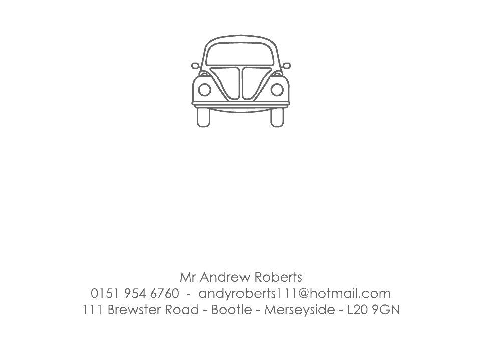 Personalised Stationery : Motif Postcards : Beetle