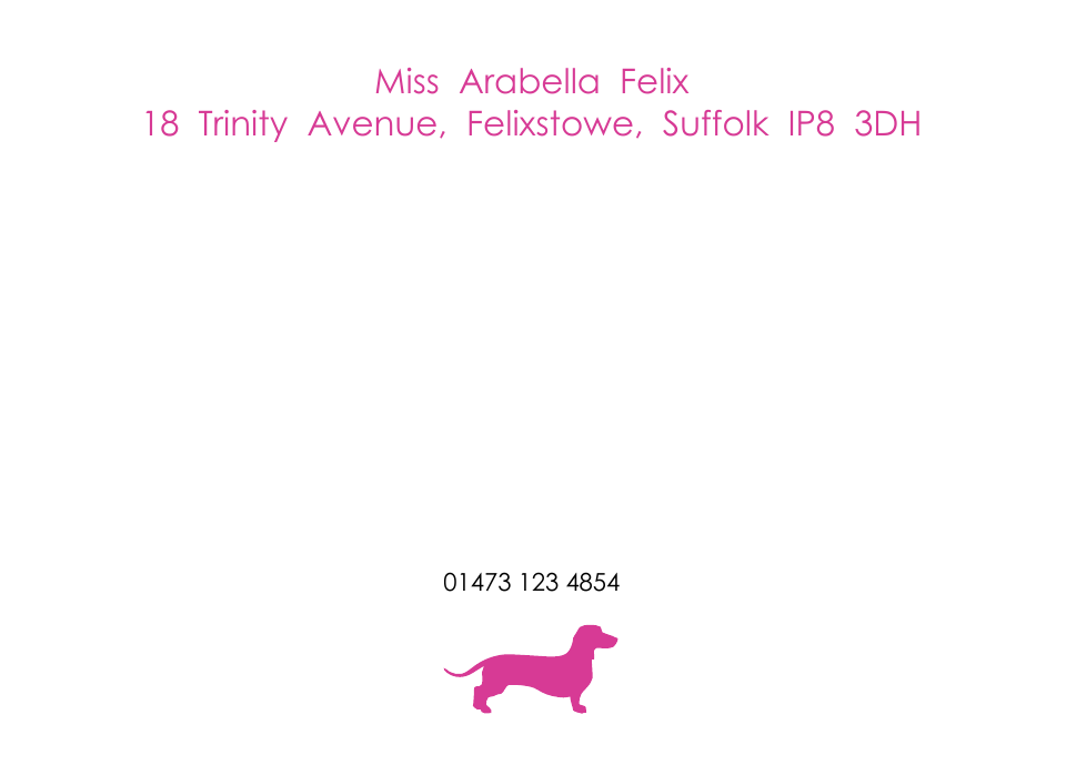Personalised Stationery : Motif Postcards : Coco