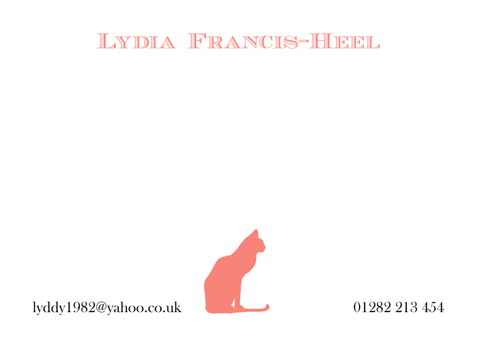 Personalised Stationery : Motif Postcards : Luna