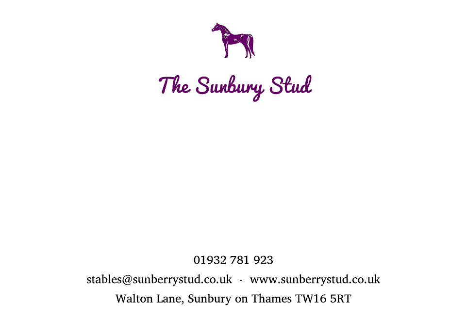 Personalised Stationery : Motif Postcards : Sunbury