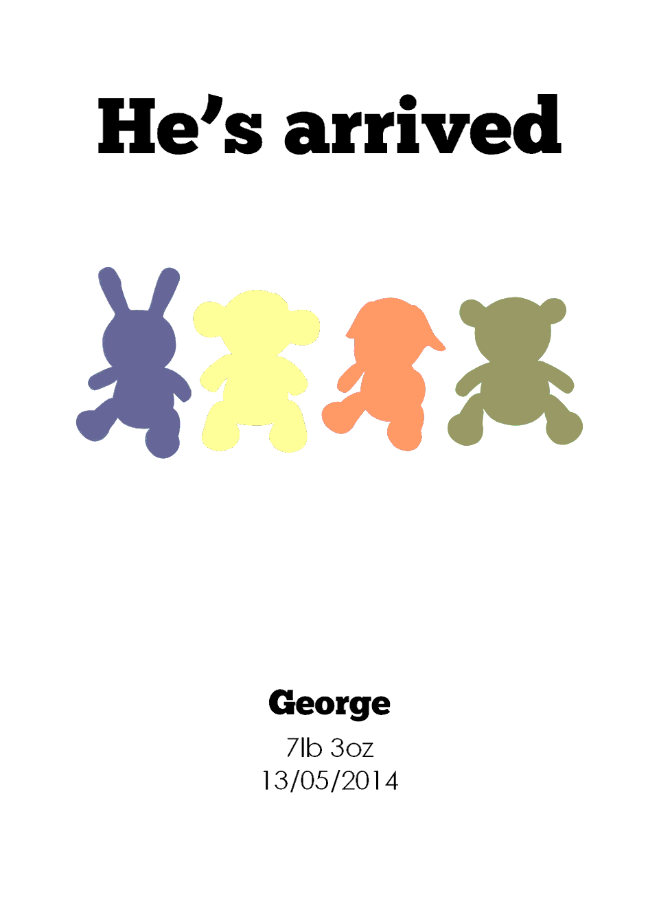 George Classic Announcements | Design, proof and buy online | Personalised Stationery