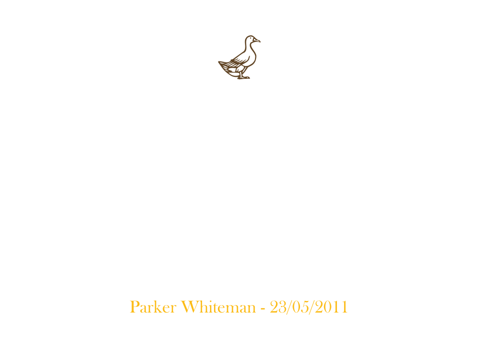 Personalised Stationery : Classic Announcements : Parker