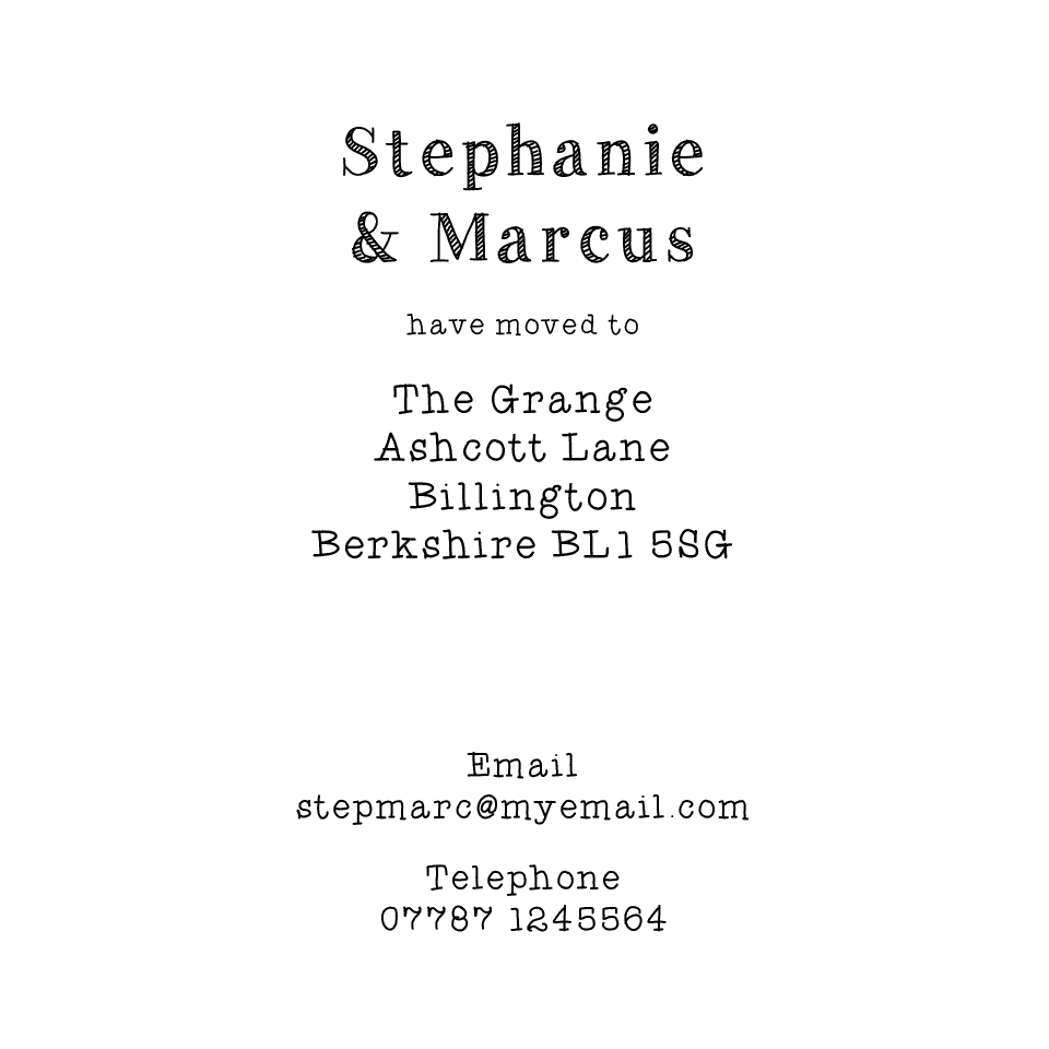 Rowley Square Icon'ish Change of Address | Design, proof and buy online | Personalised Stationery