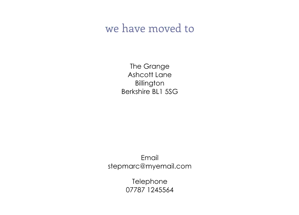 Chiswick Icon'ish Change of Address Cards | Design, proof and buy online | Personalised Stationery