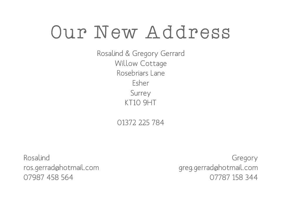 Esher Icon'ish Change of Address Cards | Design, proof and buy online | Personalised Stationery
