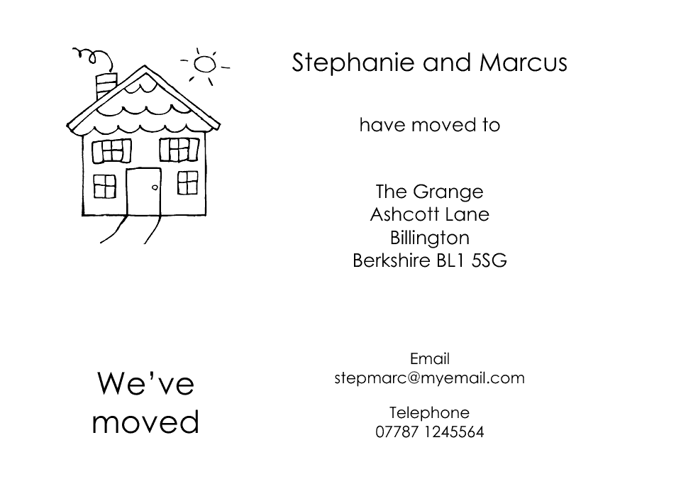 Personalised Stationery : Icon'ish Change of Address Cards : Richmond