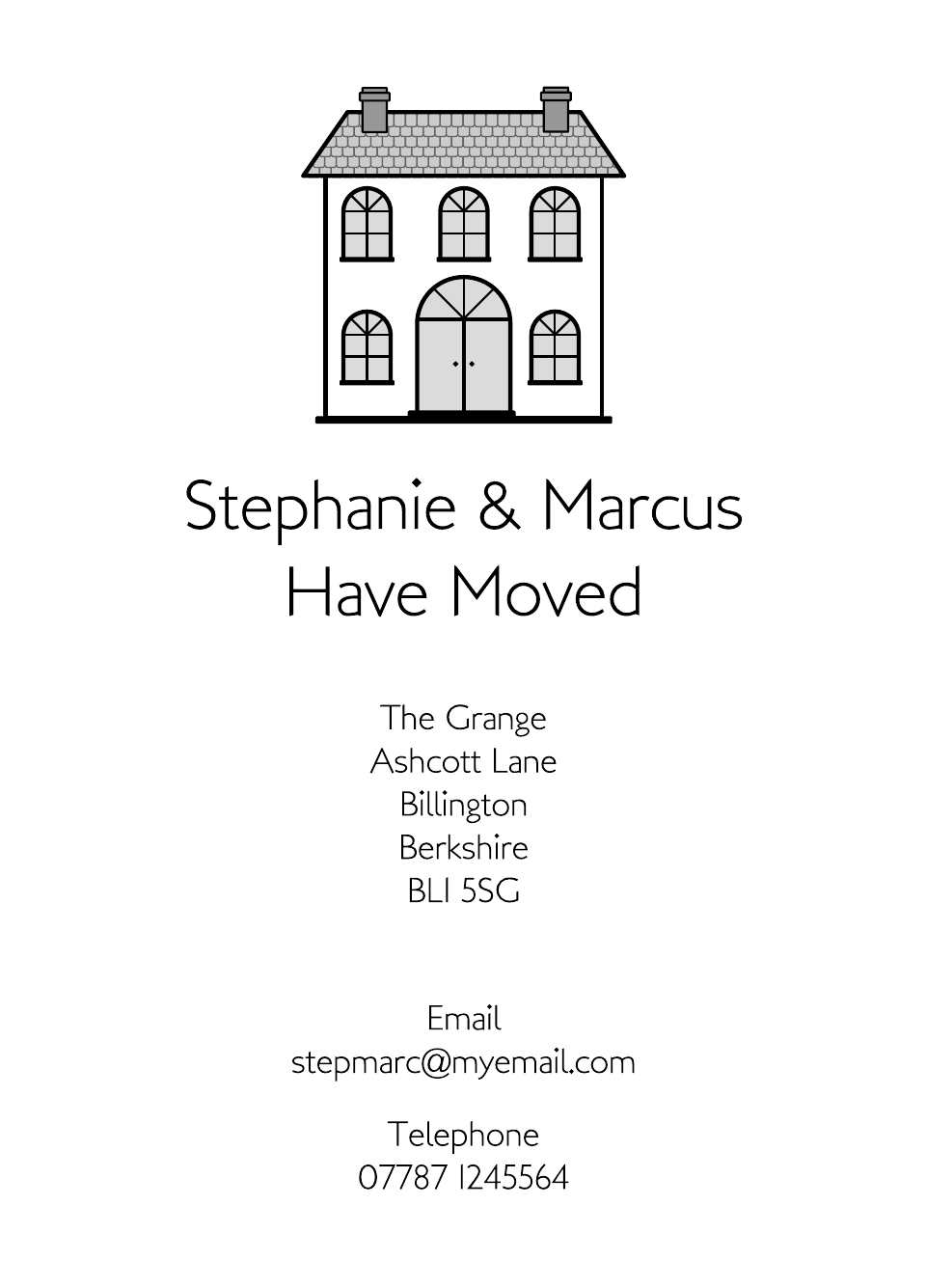 Personalised Stationery : Icon'ish Change of Address Cards : Surbiton