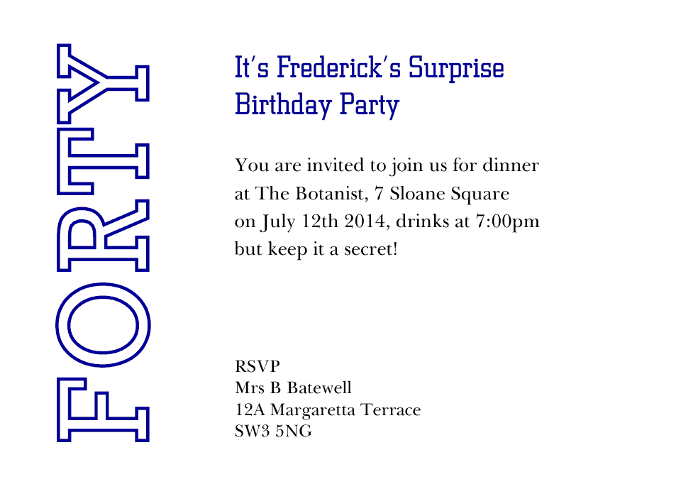 Frederick A6 Birthday Party Invites | Design, proof and buy online | Personalised Stationery