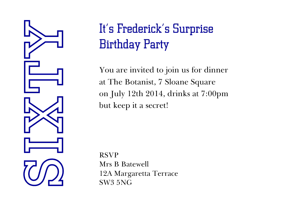 Personalised Stationery : A6 Birthday Party Invites : Frederick