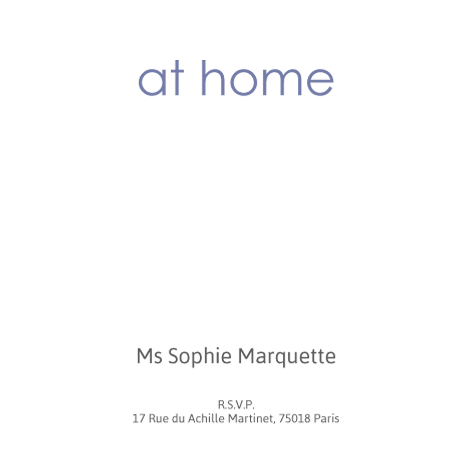 Marquette 120mm Square At Home Cards | Design, proof and buy online | Personalised Stationery