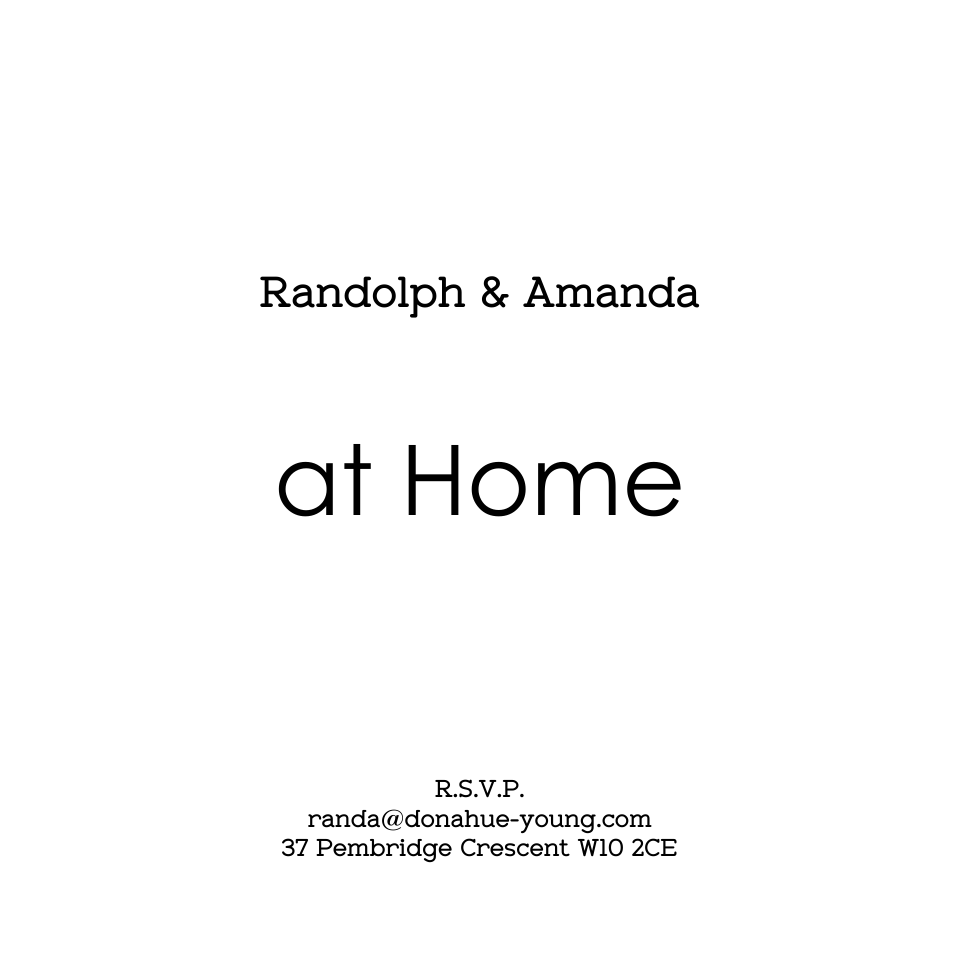 Randolph 120mm Square At Home Cards | Design, proof and buy online | Personalised Stationery