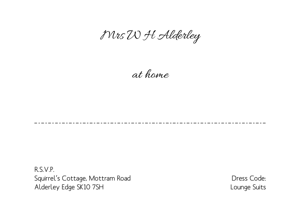 Alderley A6 At Home Cards | Design, proof and buy online | Personalised Stationery