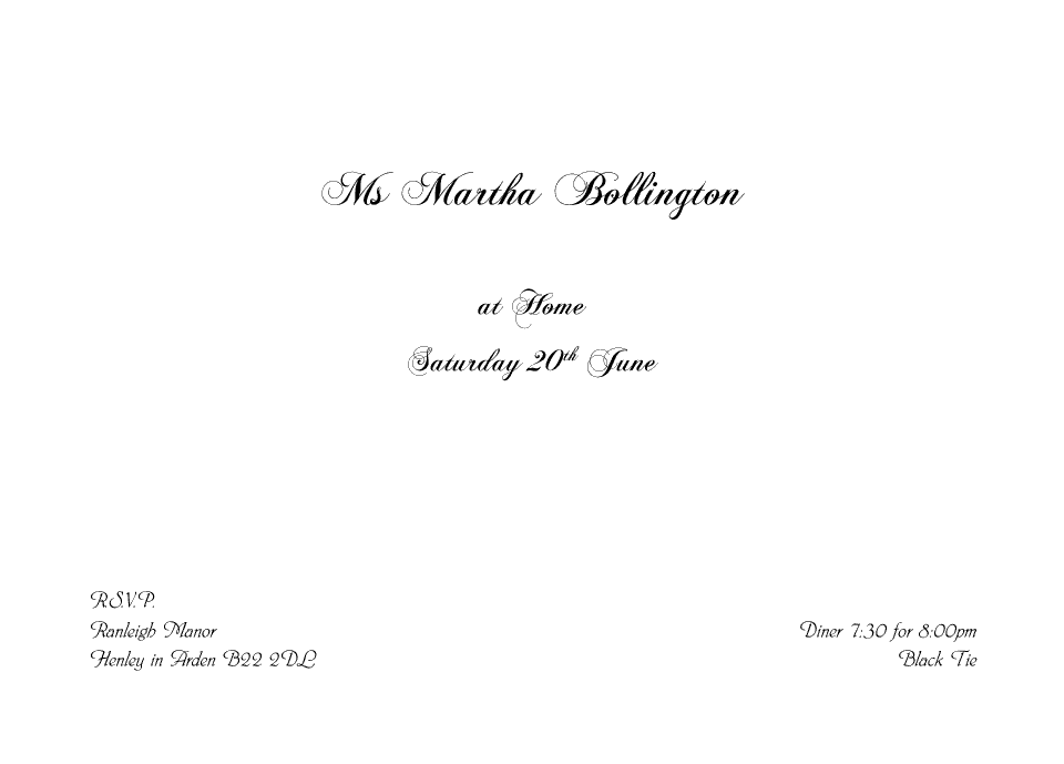 At home design your personalised invitations proof and buy online personalised stationery a6 at home cards bollington stopboris Choice Image