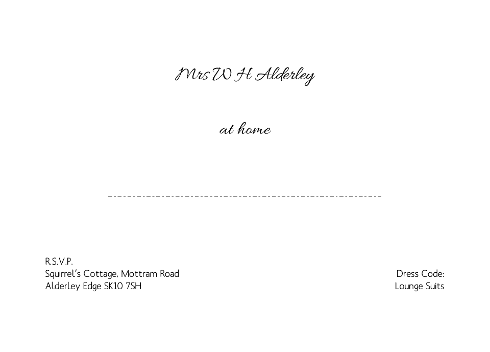 Personalised Stationery : Demi Quarto At Home Cards : Alderley