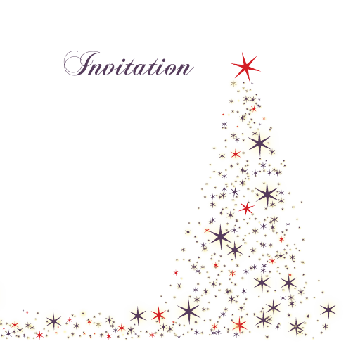Star Tree 120mm Square Folded Invites | Design, proof and buy online | Personalised Stationery