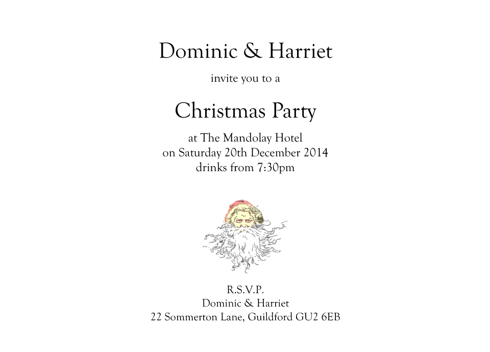 Bruce A6 Double Sided Invites | Design, proof and buy online | Personalised Stationery
