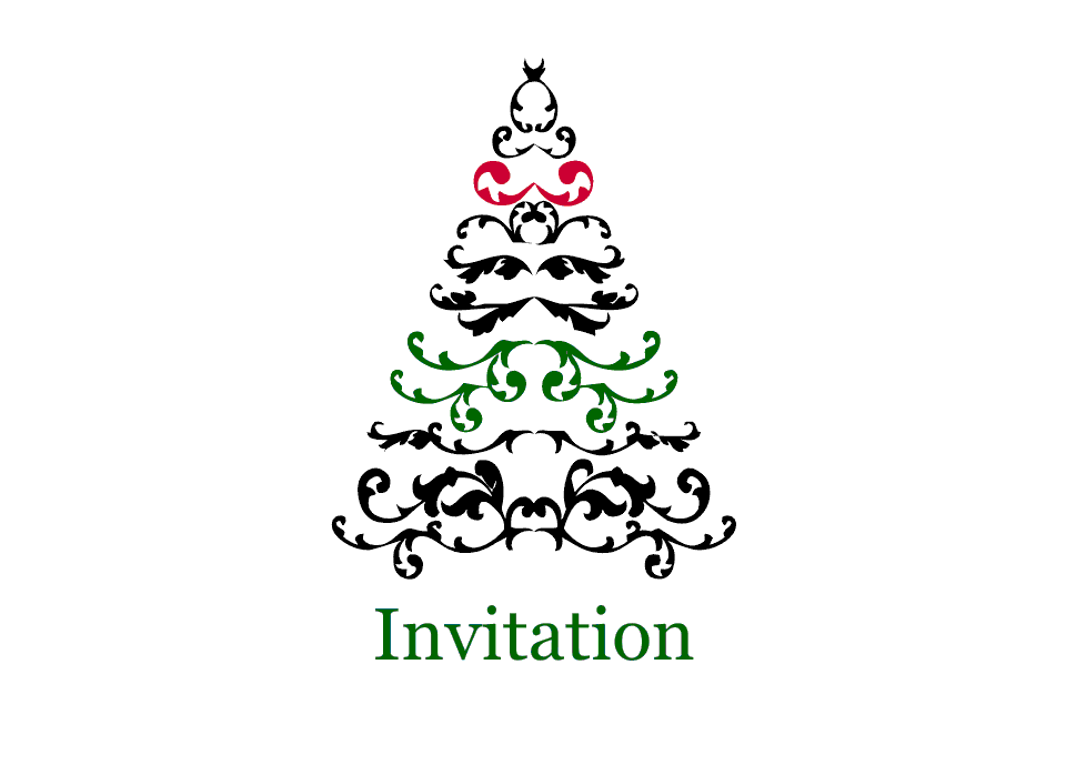 Spruce Tree A6 Double Sided Invites | Design, proof and buy online | Personalised Stationery