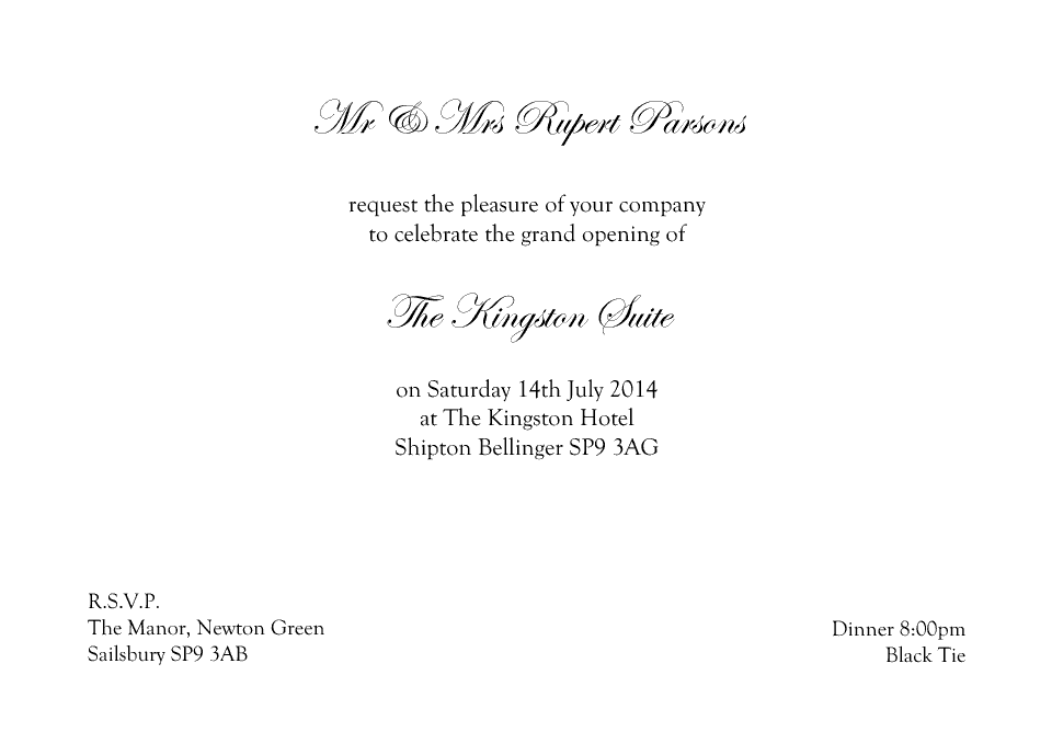 Formal Invitation | Formal Design Your Personalised Invitations Proof And Buy Online