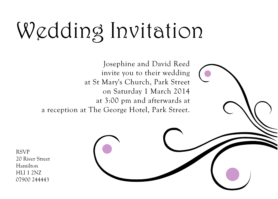 Personalised Stationery : A6 Invitations : Reed