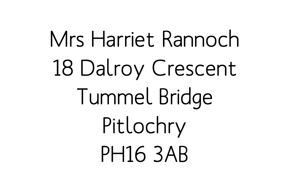 Personalised Stationery : Labels 40x25mm : Rannoch