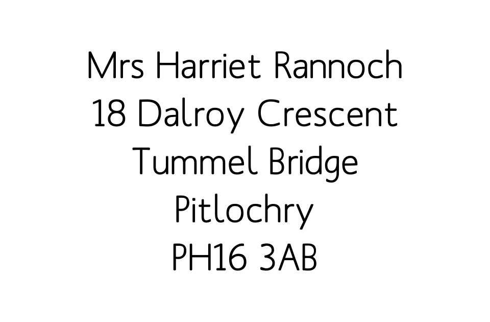 Personalised Stationery : Labels 59x37mm : Rannoch
