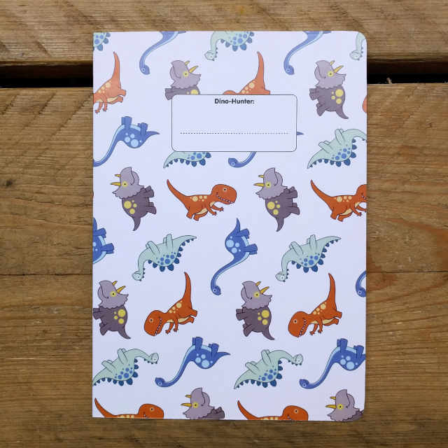 Dino-Hunter Grid Ruled | Design, proof and buy online | Personalised Stationery