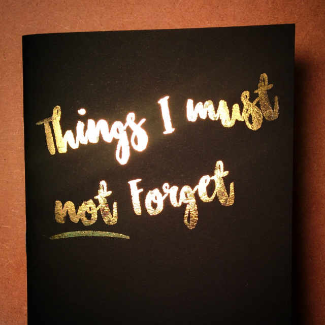 Personalised Stationery : Ruled : Forget Me Note