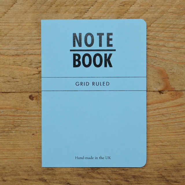Personalised Stationery : Grid Ruled : Blue