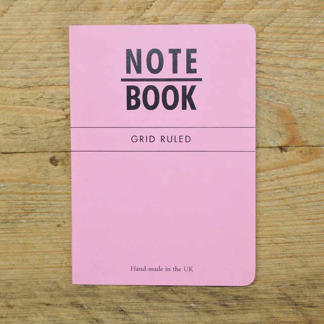 Personalised Stationery : Grid Ruled : Pink