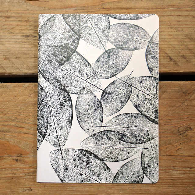 Personalised Stationery : Grid Ruled : Leaf Natural