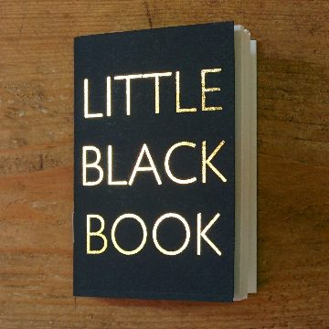 Little Black Book Plain | Design, proof and buy online | Personalised Stationery