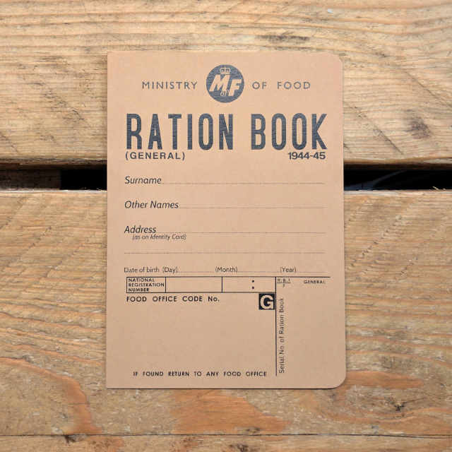 Personalised Stationery : Plain : Ration Book