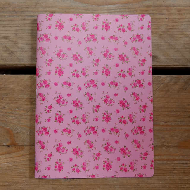 Personalised Stationery : Grid Ruled : Roses Pink