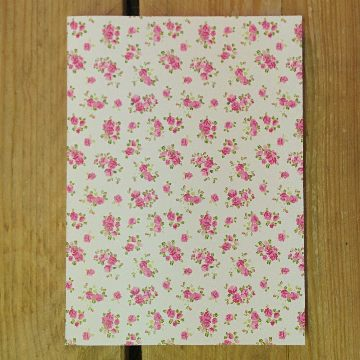 Personalised Stationery : Grid Ruled : Roses Natural