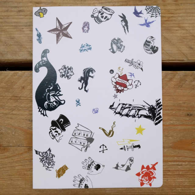 Personalised Stationery : Grid Ruled : Tattoo