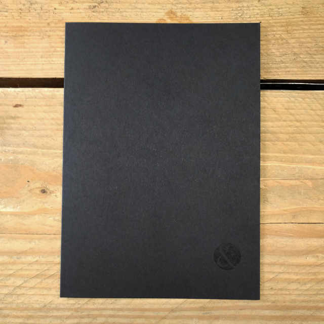 Personalised Stationery : Seyes Ruled : Journal Black